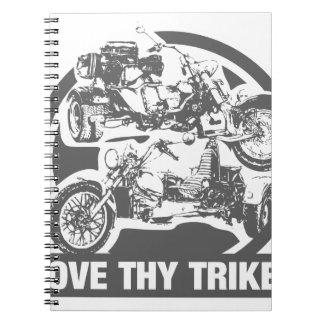 love thy trike - motorcycle note books