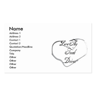Love Thy Truck Driver Double-Sided Standard Business Cards (Pack Of 100)