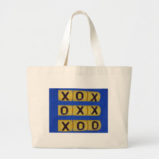 Love Tic-Tac-Toe Large Tote Bag