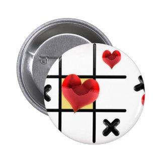 Love Tic Tac Toe Pinback Button