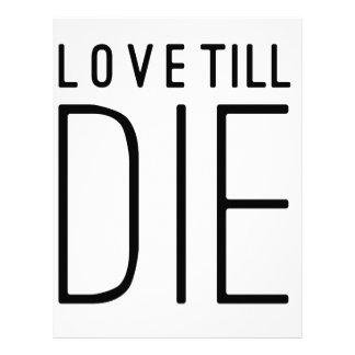 Love Till Die Typographic Quote Letterhead