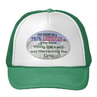 love tilling the land & harvesting crop mesh hat