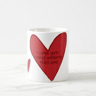 Love times infinity plus one coffee mug