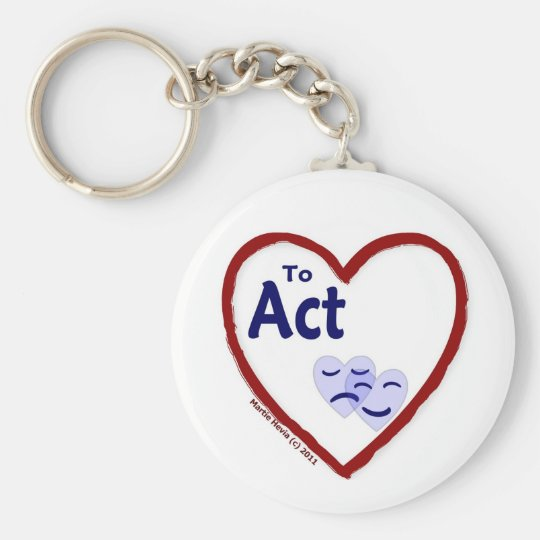 Love to Act Keychain
