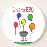 Love to BBQ Beverage Coasters