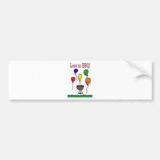 Love to BBQ Bumper Sticker
