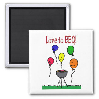 Love to BBQ Magnet