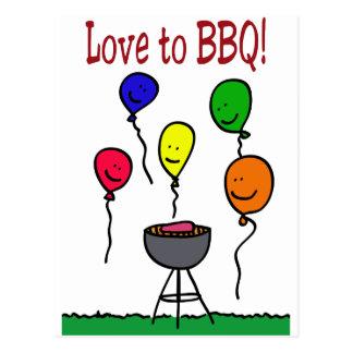 Love to BBQ Postcard