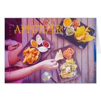 Love to be a girl postcard: Aperitif Card