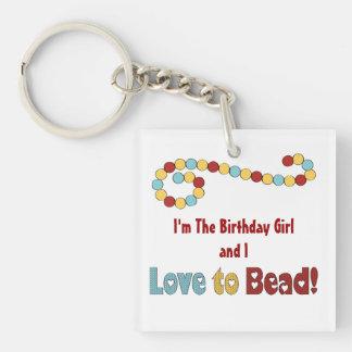Love To Bead Birthday Keychain