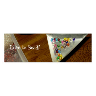 Love to Bead! Bookmark Business Card