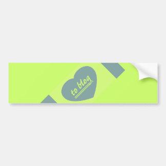'Love to blog' bumper sticker