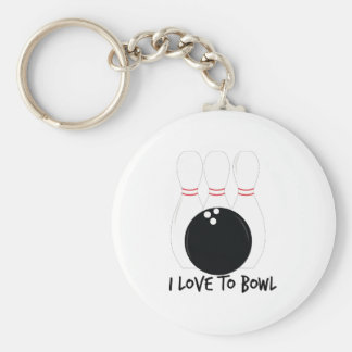 Love To Bowl Key Chains