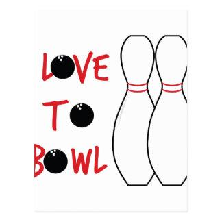 Love To Bowl Postcard