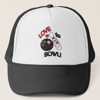 Love to Bowl Trucker Hat