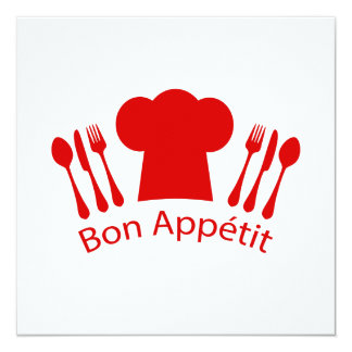 Love to Cook Chef Hat Bon Appetit Card