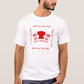 Love to Cook Chef Hat Bon Appetit T-Shirt