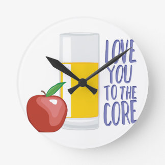 Love To Core Round Clock