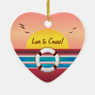 Love to Cruise Sunset - Your Photo Personalized Christmas Ornament