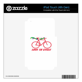 Love To Cycle iPod Touch 4G Skins