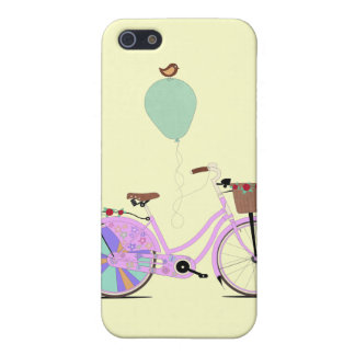 Love to Cycle on my Pink Bike by Andy Scullion Cover For iPhone SE/5/5s