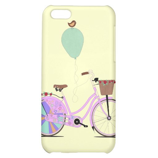 Love to Cycle on my Pink Bike by Andy Scullion iPhone 5C Cover
