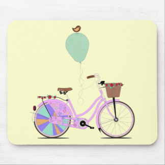 Love to Cycle on my Pink Bike by Andy Scullion Mouse Pad