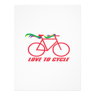 Love To Cycle Personalized Letterhead