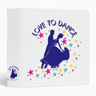 Love to dance 3 ring binder