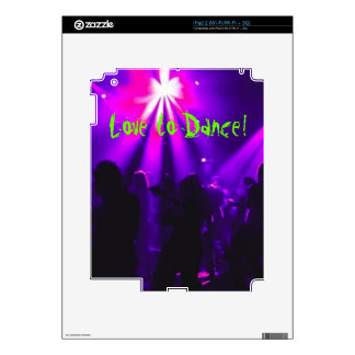 Love to Dance Apple iPad skins w/Dance Party logo