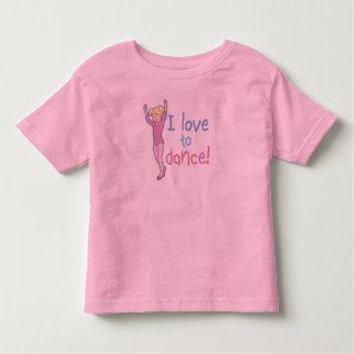 Love To Dance Ballerina Toddler T-shirt