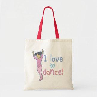 Love To Dance Ballerina Tote Bag