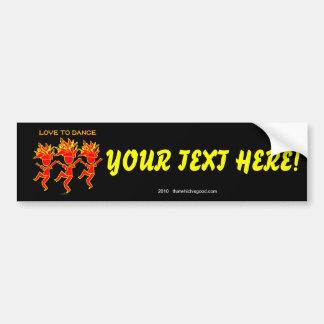 Love To Dance Car Bumper Sticker