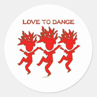 Love To Dance Classic Round Sticker