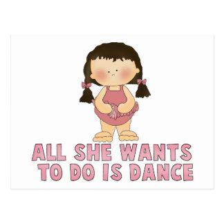 Love To Dance Girl Postcard