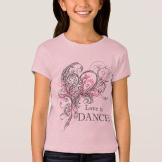 Love to Dance Girls Baby Doll T (customizable) T-Shirt