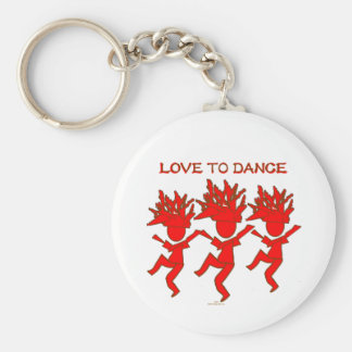 Love To Dance Key Chain