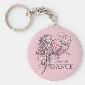 Love to Dance Keychain (customizable)