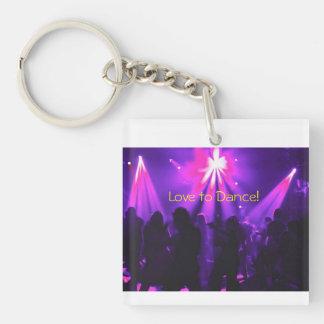 Love to Dance keychain w/Dance Party logo