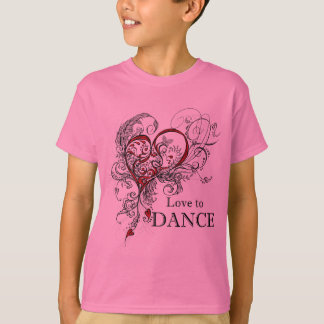 Love to Dance Kids T-shirt (customizable)