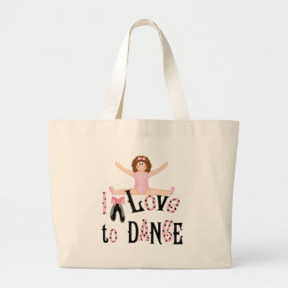Love to Dance Large Tote Bag