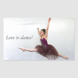 Love to dance! rectangular sticker