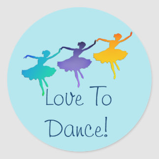 Love To Dance! (Three Ballerinas) Sticker