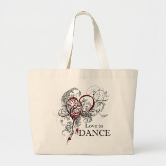 Love to Dance Tote (customizable) Canvas Bag