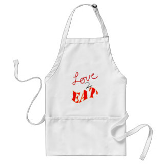 Love-to-Eat Adult Apron