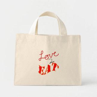 Love-to-Eat Mini Tote Bag