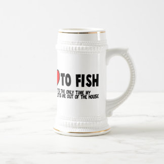 Love To Fish Beer Stein