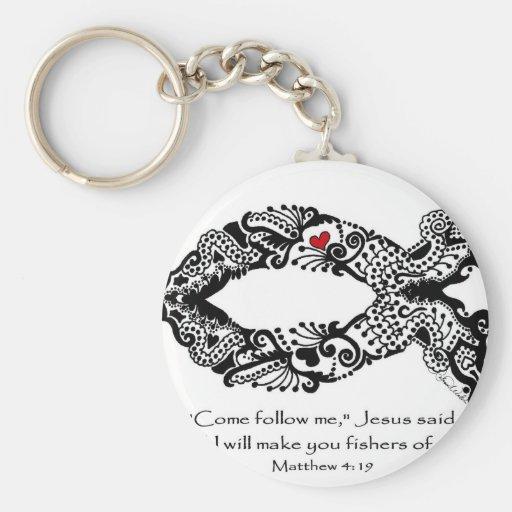 Love to fish (Zazzle) Key Chains