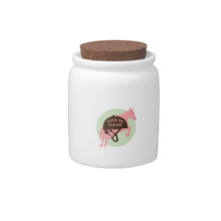 Love To Gallop Candy Jar