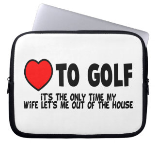 Love To Golf Laptop Sleeve